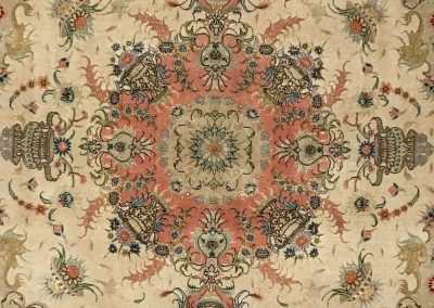 Tabriz with Silk Highlights | Tabriz 5′ x 7′